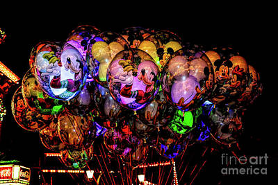 Photograph - Balloons Of Disney by Joe Lach