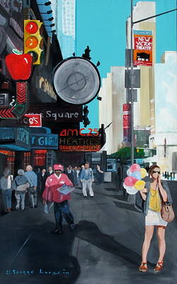 Balloons On 42nd Street Art Print by George Lucas