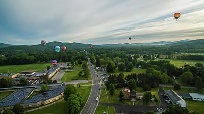 Photograph - Balloons Over Cambridge, New York by Bert Perry