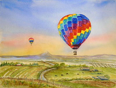 Painting - Balloons Over Mcminnville by Anna Jacke