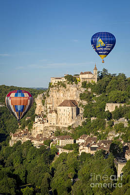 Abstract Utensils - Balloons over Rocamadour by Brian Jannsen