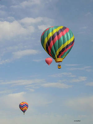 Photograph - Balloons Over The Desert by Allen Sheffield
