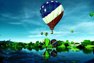 Balloons Over Water Art Print by Jeff Swan