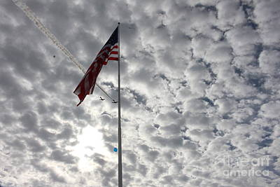 Photograph - Balloons, Planes And Us Flag by Marie Neder