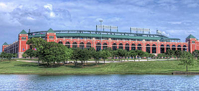 Robert Bellomy Royalty-Free and Rights-Managed Images - Ballpark in Arlington now Globe Life Park by Robert Bellomy