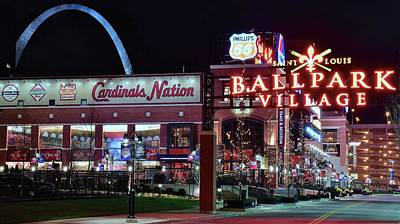 Photograph - Ballpark Village by Frozen in Time Fine Art Photography