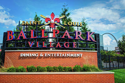 Photograph - Ballpark Village - Saint Louis Arch by Gregory Ballos