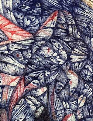 Drawing - Ballpoint Pen Art With A Digital  Fine Tune by Jack Dillhunt