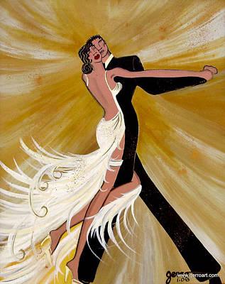 Ballroom Dance Art Print by Helen Gerro