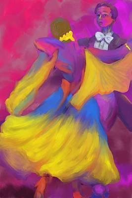 Painting - Ballroom Dancers by Deborah Lee
