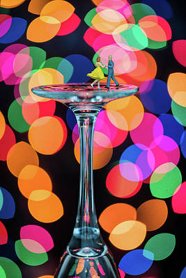 Photograph - Ballroom Dancing On A Wine Glass by Tammy Ray