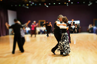 Photograph - Ballroom Dancing by SR Green