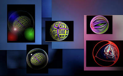 Art Print featuring the photograph Balls Afloat by Irma BACKELANT GALLERIES