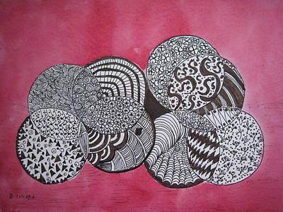 Balls Of Yarn Art Print by Bonnie Wright