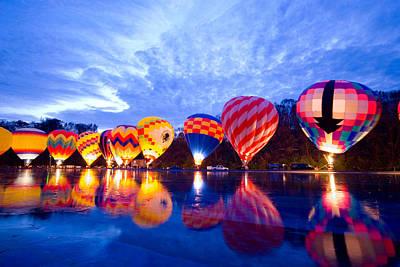 Cincinnati Photograph - Balluminaria Glow by Russell Todd