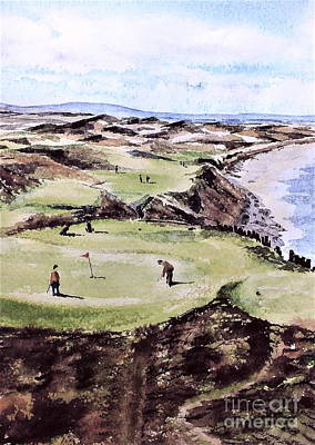 Painting - Ballybunion Gc, Kerry by Val Byrne