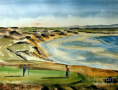 Painting - Ballybunion Links, Kerry by Val Byrne