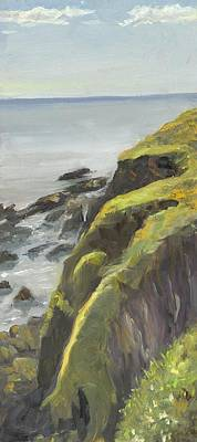 Wall Art - Painting - Ballycotton Cliffs by Katherine Farrell