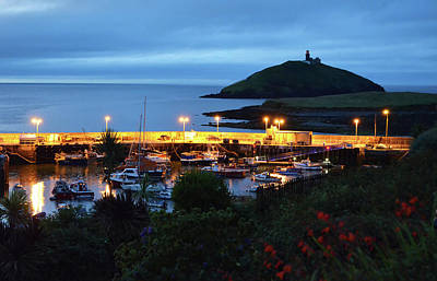 Ballycotton Ireland Marina Harbour And Lighthouse East County Cork Art Print