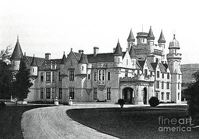 National Parks Drawing - Balmoral Castle  by English School