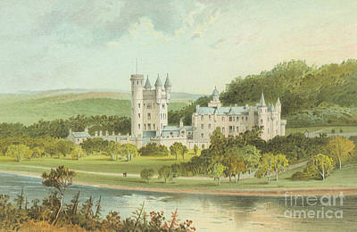 The Royal Family Painting - Balmoral Castle, Scotland by English School