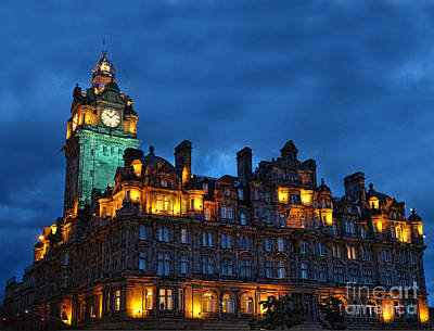 Photograph - Balmoral Hotel, Edinburgh by Judi Bagwell