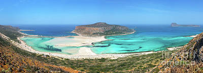 Crete Photograph - Balos Beach Panorama by Delphimages Photo Creations