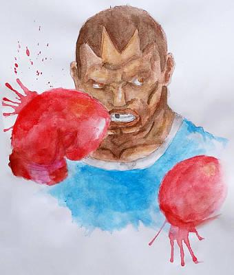 Balrog Painting - Balrog Street Fighter Watercolor by Dennis Daniel de Lima