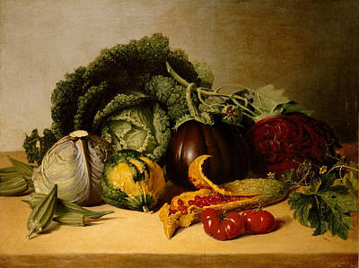 Photograph - Balsam Apple And Vegetables by James Peale