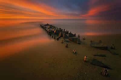 Jetty Photograph - Baltic by Krzysztof Browko