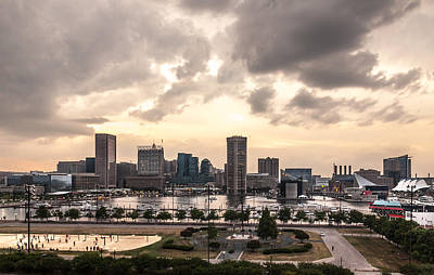 Photograph - Baltimore At Sunset by Erwin Spinner