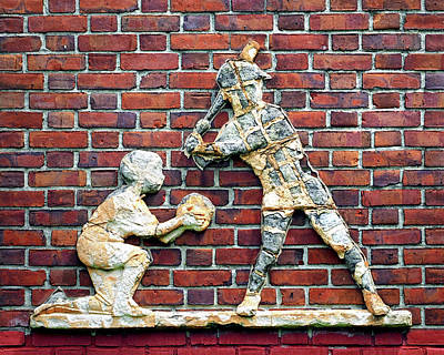 Photograph - Baltimore Baseball Catcher And Batter by Bill Swartwout Fine Art Photography