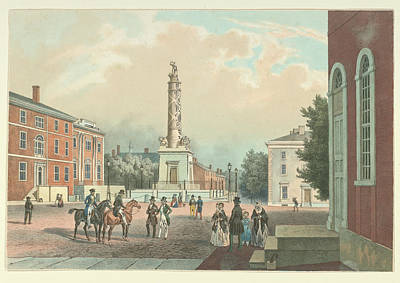Photograph - Baltimore Battle Monument 1848 by Ricky Barnard