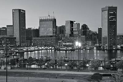 Photograph - Baltimore Black And White by Frozen in Time Fine Art Photography
