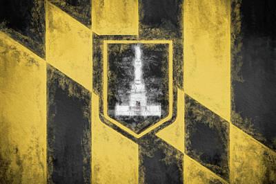 Digital Art - Baltimore City Flag by JC Findley