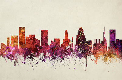Baltimore Digital Art - Baltimore Cityscape 09 by Aged Pixel