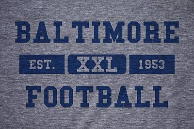 Baltimore Photograph - Baltimore Colts Retro Shirt by Joe Hamilton