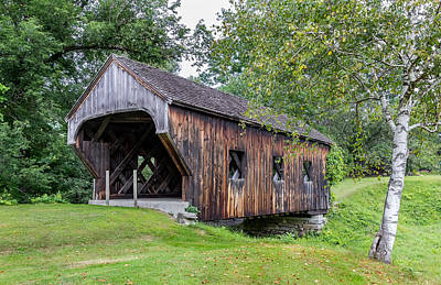 Baltimore Covered Bridge, Springfield, Vt Original by Betty Denise