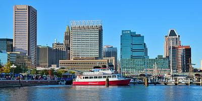 Photograph - Baltimore Harbor Daylight Pano by Frozen in Time Fine Art Photography