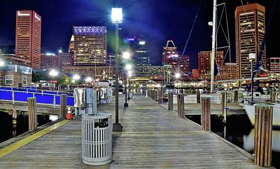 Photograph - Baltimore Harbor Dock by Frozen in Time Fine Art Photography