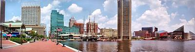 Photograph - Baltimore Harbor Panorama by Chris Montcalmo