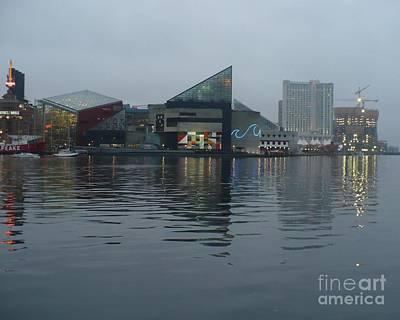 Baltimore Harbor Reflection Art Print by Carol Groenen