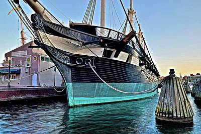 Photograph - Baltimore Harbor Ship by Frozen in Time Fine Art Photography