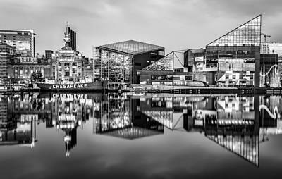 Baltimore In Black And White Art Print