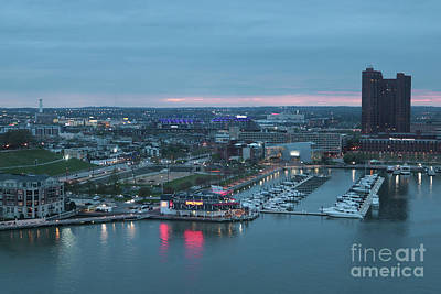 Photograph - Baltimore Inner Harbor At Sunset by Carol Groenen