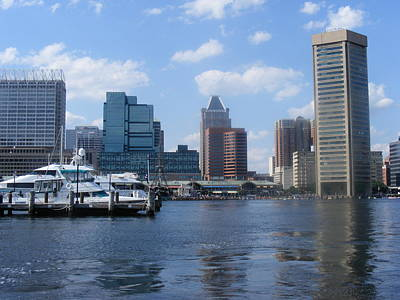 Baltimore Inner Harbor Art Print by James and Vickie Rankin