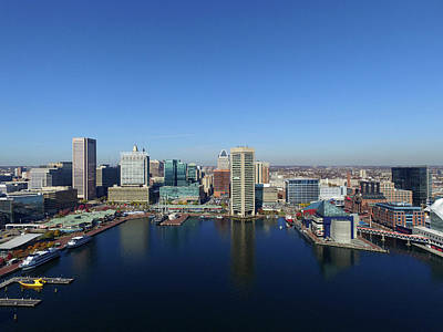 Maryland Photograph - Baltimore Inner Harbor by Mid Atlantic Aerial