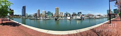 Photograph - Baltimore Inner Harbor Panorama by Carol Groenen