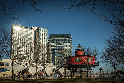 Photograph - Baltimore Lighthouse And Buildings by Framing Places