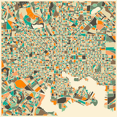 Baltimore Map Art Print by Jazzberry Blue